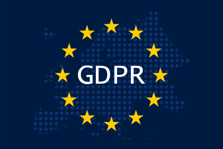 General Data Protection Regulation (GDPR) on european union map background